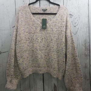 Wild Fable XXL Sweater NWT Purple Pink Yellow
